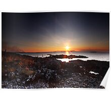 Sun Burst Over Eigg Poster