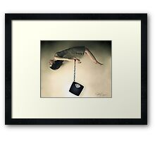 Weigh Me Down Framed Print