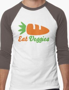 Eat Veggies Men's Baseball ¾ T-Shirt