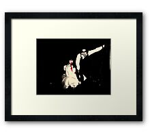 Red blood Red eyes Framed Print