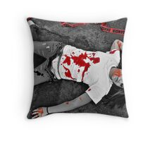 Left Alone Throw Pillow