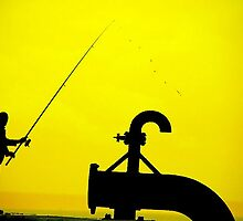 Le Havre - Fishing in troubled water. by Jean-Luc Rollier
