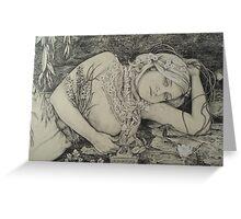 Rimbaud's Ophelia Greeting Card
