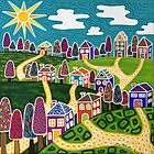 'Community' by Lisa Frances Judd~QuirkyHappyArt
