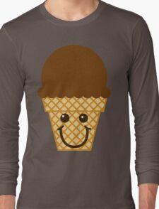 Chocolate Ice Cream Cone Long Sleeve T-Shirt