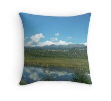 Mountain Community Throw Pillow