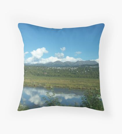 Mountain Community Throw Pillow