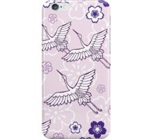 Japanese Purple ciconia bird iPhone Case/Skin