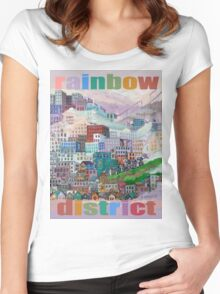 Rainbow District Tee Women's Fitted Scoop T-Shirt