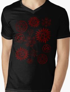 Supernatural Sigils Mens V-Neck T-Shirt