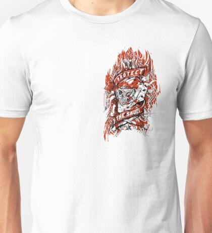 Old Skull Hockey Mask Unisex T-Shirt