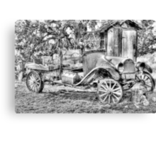poor old T ? Chevy ? Canvas Print