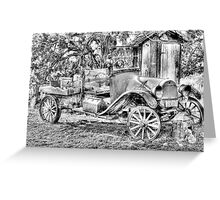 poor old T ? Chevy ? Greeting Card