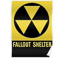 Fallout Shelter Sign Poster
