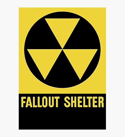 Fallout Shelter Sign Photographic Print