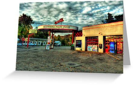 Mesopotamia Gas Station by Marcia Rubin