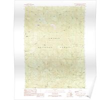 USGS Topo Map Oregon Twin Lakes Mountain 281913 1989 24000 Poster