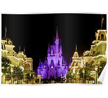 Cinderella Castle at Night - Natural Poster