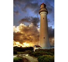 Glow on the Lighthouse, Airey's Inlet Photographic Print