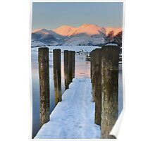 Derwentwater Snow Poster