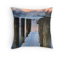 Derwentwater Snow Throw Pillow