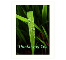 """grass blade """"thinking of you"""" card Art Print"""