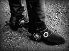 Black Boots & Silver Spurs ~ Black & White by Lucinda Walter