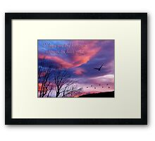 Fly Away Home card (Bon Voyage) Framed Print