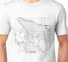 Tuscon Map Gray Unisex T-Shirt