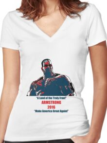 Senator Armstrong 2016 Campaign Women's Fitted V-Neck T-Shirt
