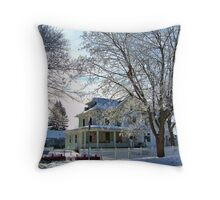 Winter Sun's Tender Kiss Throw Pillow