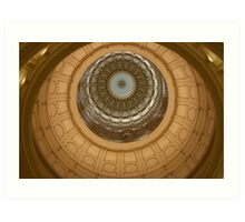 Inside the Texas State Capitol Art Print