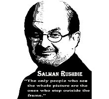 Sir Salman Rushdie Photographic Print