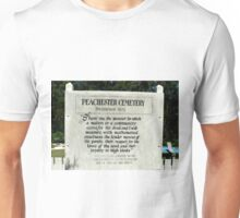 Sign at Peachester Cemetery Unisex T-Shirt