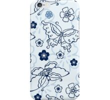 Japanese blue butterfly  iPhone Case/Skin