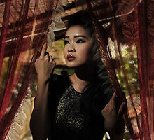 Evon looking through the Curtains by Kyle Jerichow