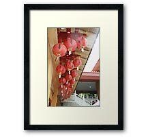Chinese New Year Lanterns Framed Print
