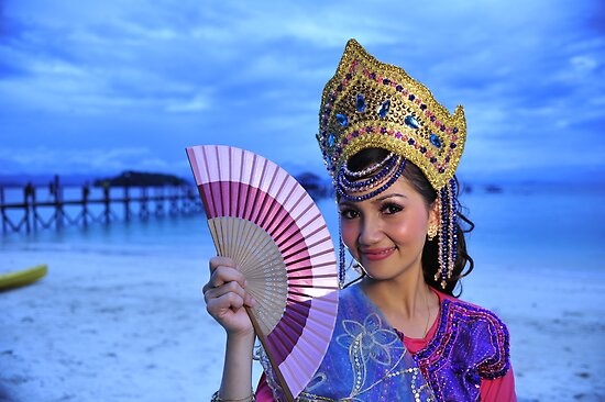 Malaysian Traditional Dancer with Fan by Kyle Jerichow
