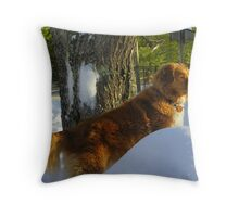Dixie on Guard Duty Throw Pillow