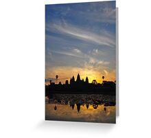 Sunrise over Angkor Wat Greeting Card