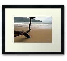 Not so beachy weather  Framed Print