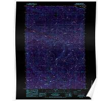 USGS Topo Map Oregon Snow Peak 281555 1985 24000 Inverted Poster