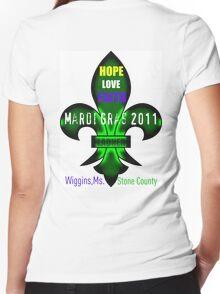 Fleur De Lis Mardi Gras Wiggins Women's Fitted V-Neck T-Shirt