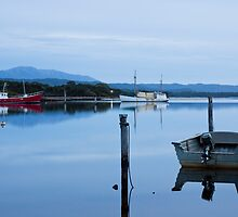 Evening falls on Macquarie Harbour by Will Hore-Lacy
