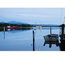 Evening falls on Macquarie Harbour Photographic Print