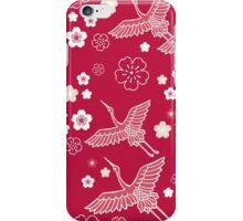 Japanese pink ciconia bird iPhone Case/Skin