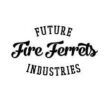 Future Industries' Fire Ferrets (Black) Photographic Print