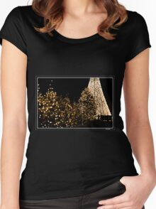 Christmas Lights - Lac Leamy Casino Women's Fitted Scoop T-Shirt