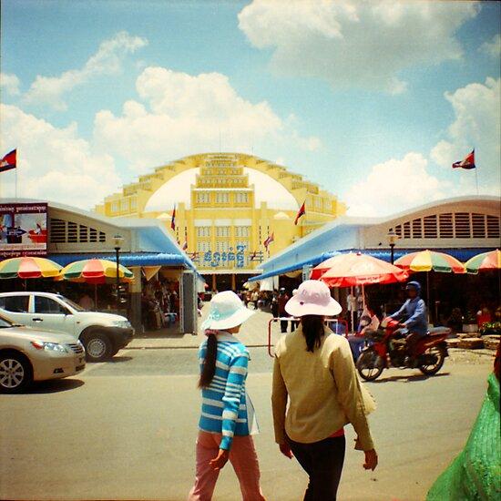 new market, phnom penh, cambodia by tiro