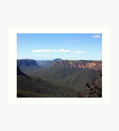 Govett's leap lookout Art Print